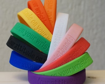 1 Personalized rubber wristband * rubber bracelet with custom message * Personalized silicone bracelets * rubber Friendship bracelet