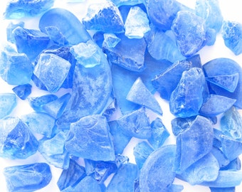 Sea Glass Cobalt Blue Tumbled-Sea Glass Bulk-Man Made Sea Glass-Cobalt Sea Glass-Beach Wedding Decor-Cobalt Sea Glass Bulk-Craft Supplies