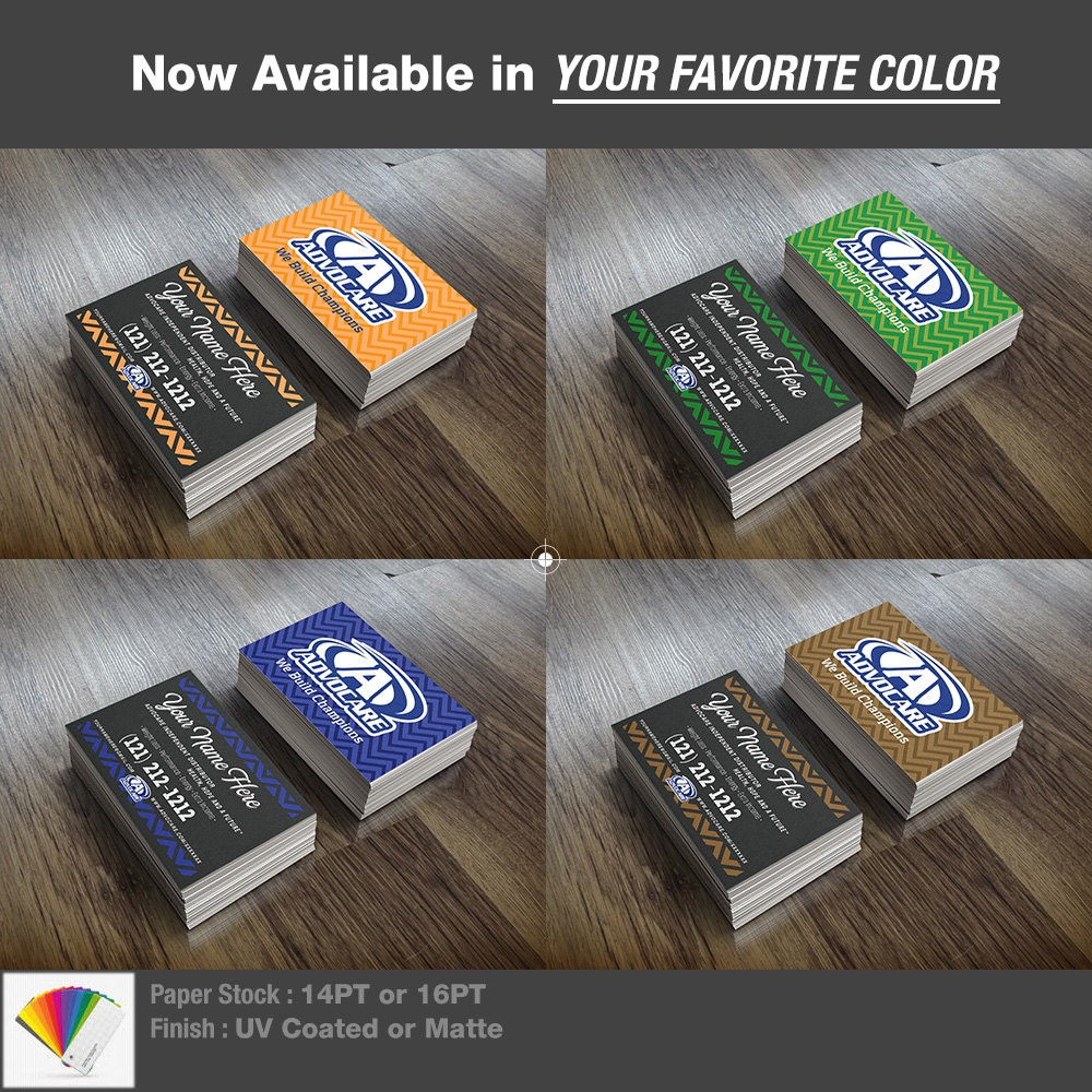 Customized 500 Advocare Business Cards Full by Mansiprintshop