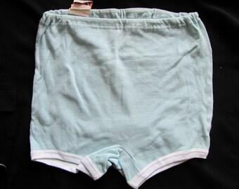 02 blue vintage panties. woman.  made in USSR. new with tags. ladies underwear
