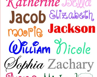 Vinyl Name Decal Etsy - Letter custom vinyl decals for car
