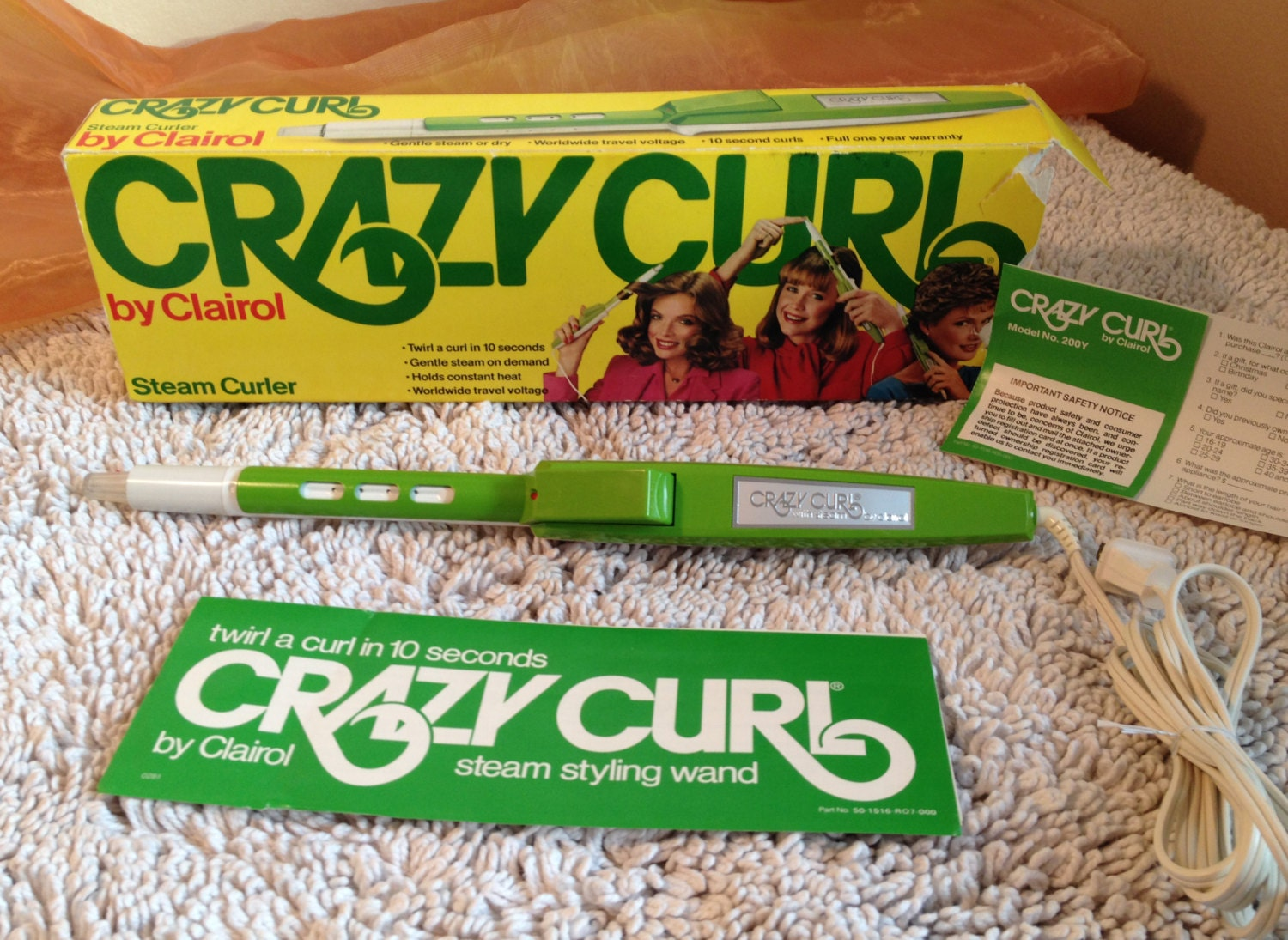 Vintage Clairol Crazy Curl Curling Iron With The Original Box