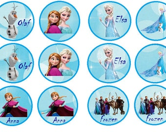 Frozen Edible Images  ( 2.5 Inch ) Cupcake or Cookie Toppers