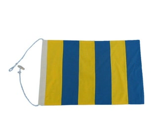 Letter G Cotton Nautical Signal Flag
