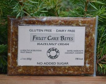 Hazelnut Cream - Healthy Fruit Cake Snack for paleo, gluten-free, and vegan diet. Made exclusively from real fruits and nuts.