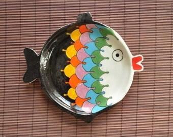 ceramic fish plate - FREE SHİPPİNG