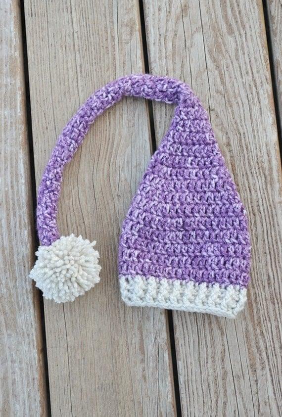 Free Crochet Pattern Long Tail Elf Hat : Crochet Baby Elf Hat Long Tail Baby Hat Purple Elf Hat