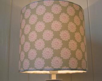 Sage Green Daisy drum lampshade