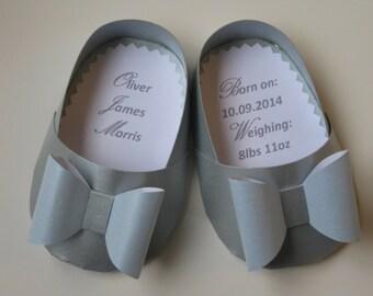 Personalised Baby Boy Shoe Card