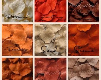 Autumn Blend Silk Rose Petals - Artificial Rose Petals for Weddings
