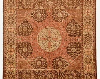 8x10 Peshawar Rug in Pink and Brown Color - Hand-Knotted Area Rug Made of 100% Pure New Zealand-AP9-1-12-329