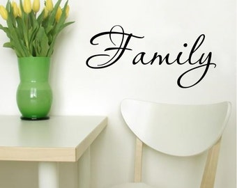 Family Wall Decal Quote- Family - Vinyl Decals Lettering