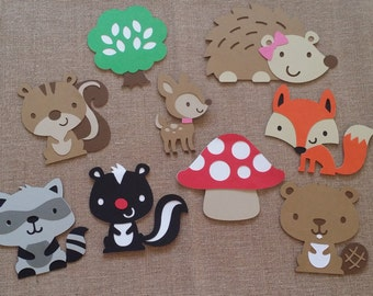 Woodland Creature Die Cut 9 piece set