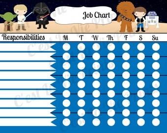 Space Wars Job Chart – Instant Download