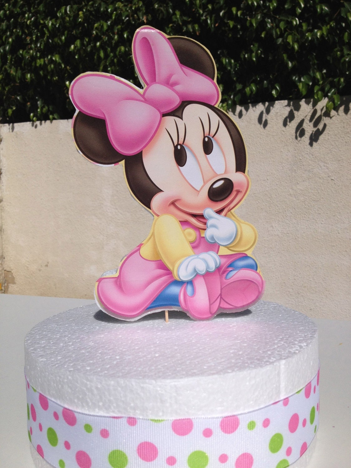 Baby minnie mouse cake topper for baby shower or 1st birthday for Baby minnie decoration