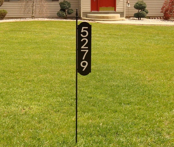 Majestic mfg address sign reflective safety yard marker house - House number signs for yard ...
