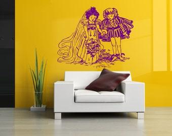 Wall Vinyl Sticker Decals Mural Room Design Pattern Art Princess Boy Girl Cartoon bo1560