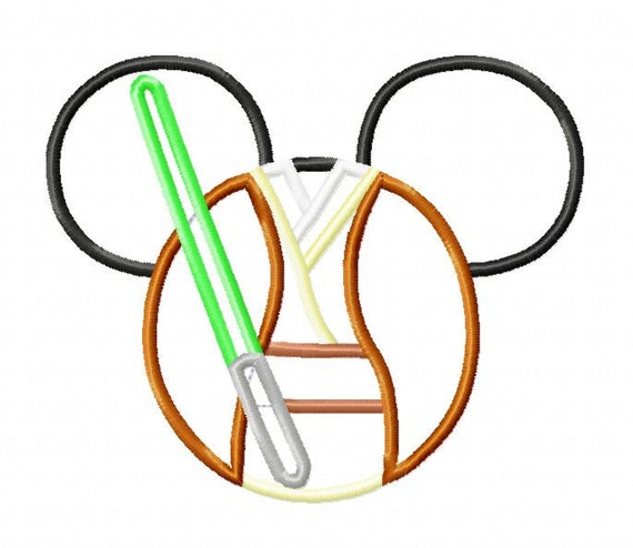 Character Applique Design : Character inspired star jedi embroidery applique design