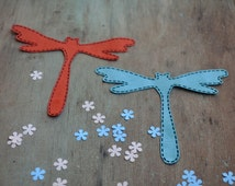 Applique girl iron on  babies Patch applique  dragonfly Kids fall  Dragonfly clothing Iron on applique patch Dragonfly Summer applique