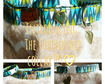 The Furendship Collar, Dog/ Cat Collar with Matching Owner Bracelet