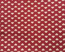 Heart Cotton Fabric. Quilting Fabric 100% Cotton - Fat Quarter