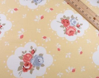 Floral Print Cotton Fabric, 100% Cotton - Fat Quarter