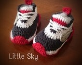 Crochet Nike Baby Shoes Pattern