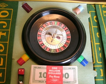 E.S. Lowe Bet-a-Million, Board Game, Las Vegas, Gambling, Roulette, Craps, 1960s