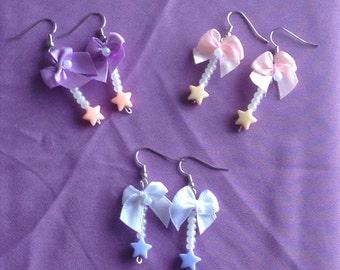 Pastel Star & Bow Earrings