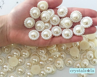 Flat Pearls 100pc - 20mm -PF60