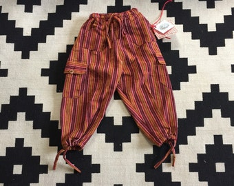 striped goucho pants