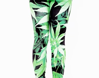LEGGING weed full print - taille unique (free size)