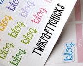24 Blog Planner Stickers