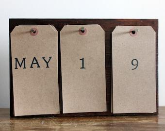 Perpetual Calendar | Wood Calendar |Desk Calendar