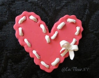 Handmade Gumpaste Cupcake Heart toppers