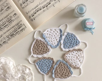 Crochet crochet bunting pennant