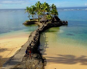 Sigatoka, Fiji, Crystal blue waters, Escape, Christmas Gift, Beaches, paradise, palm trees, sand beach hut, Fiji Photography, Fijian, Ocean