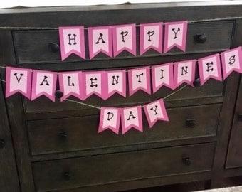 Valentine Banner pink