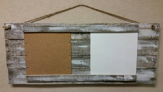 Items similar to Distressed white washed pallet wood dry erase board, distressed pallet wood