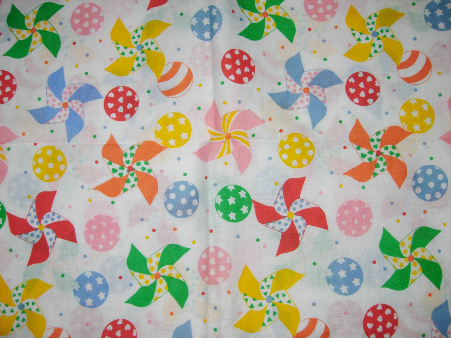 Fabric cotton children 39 s print windmills for Children s cotton dress fabric