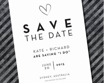 Printed Save The Date Invitations