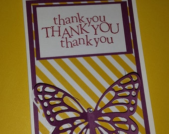 3D Butterfly Thank You Cards