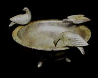 Bronze Bowl With Three Doves