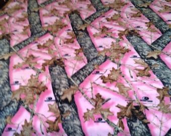 Pink Mossy Oak Blanket