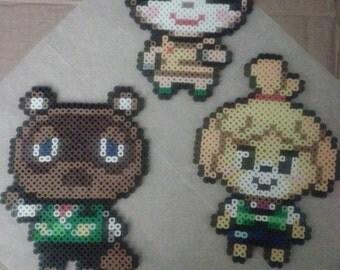 AVAILABLE- Perler Bead Animal Crossing Sprites