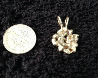 14 K Gold nugget pendent