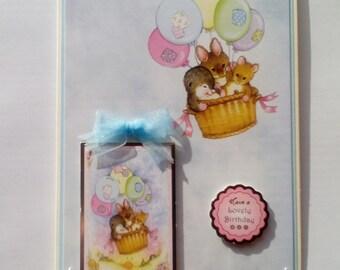 Hunkydory Handmade card 'Have a lovely birthday'