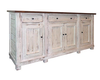 Reclaimed Salvaged Solid Wood Sideboard, Vintage and Rustic