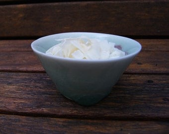 Porcelain bowl, glazed with hand painted detail, small.