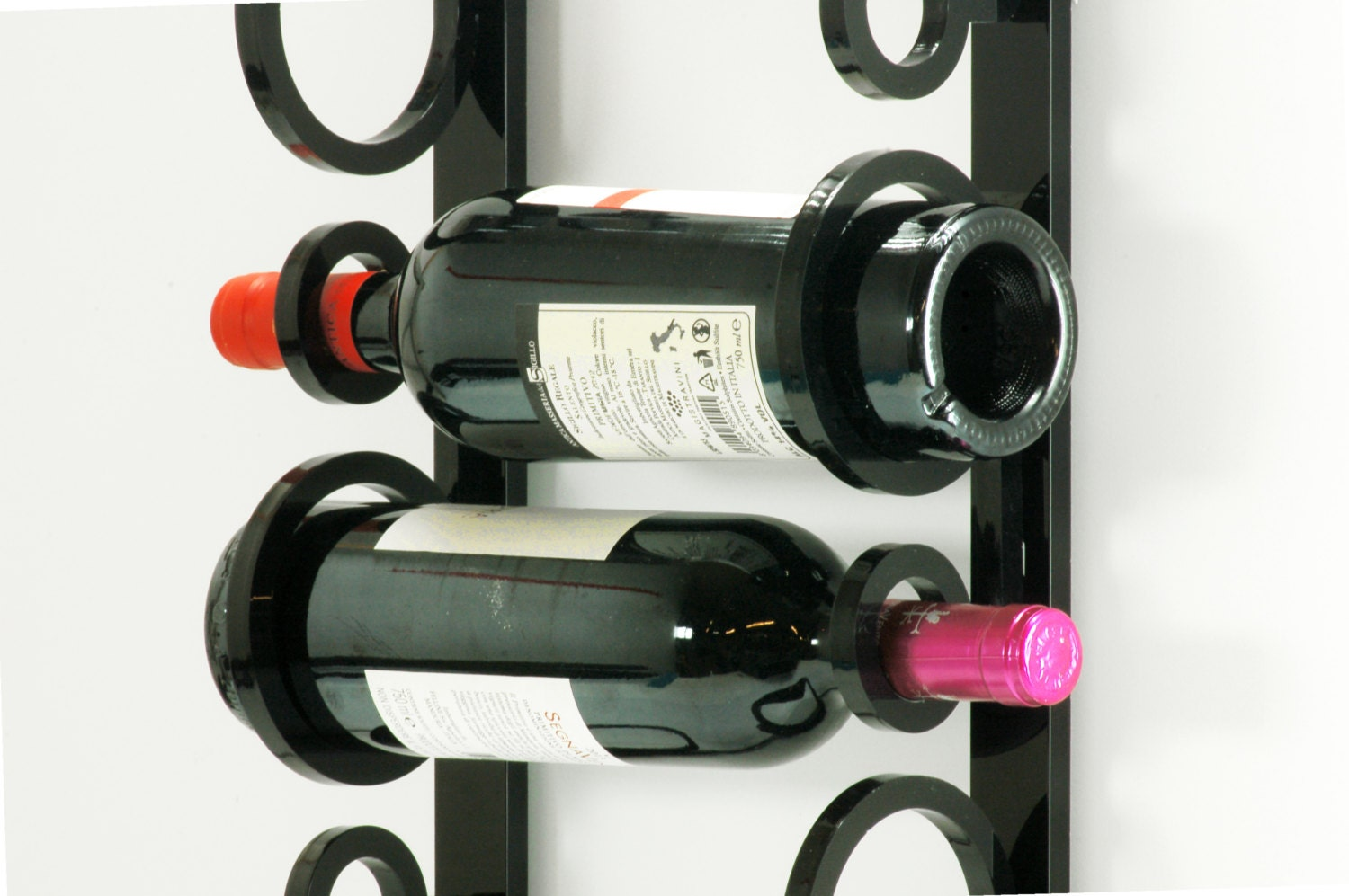 Wall mounted wine rack acrylic wine rack sob by sobweb - Portabottiglie vino ikea ...
